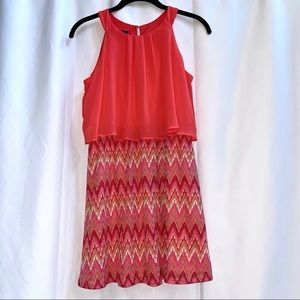 By & by girl Salmon Pink Summer Dress